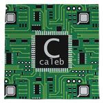 Circuit Board Large Microfiber Dish Rag (Personalized)
