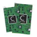 Circuit Board Microfiber Golf Towel (Personalized)