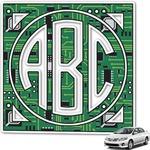Circuit Board Monogram Car Decal (Personalized)