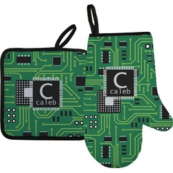 Circuit Board Oven Mitt & Pot Holder (Personalized)