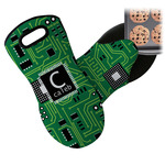 Circuit Board Neoprene Oven Mitt (Personalized)