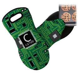 Circuit Board Neoprene Oven Mitt (Personalized)