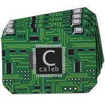 Circuit Board Dining Table Mat - Octagon w/ Name and Initial