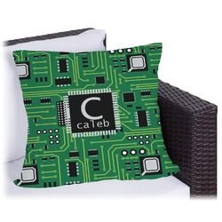 Circuit Board Outdoor Pillow (Personalized)