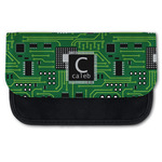 Circuit Board Canvas Pencil Case w/ Name and Initial
