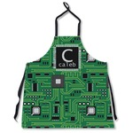 Circuit Board Apron Without Pockets w/ Name and Initial