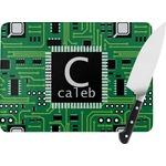 Circuit Board Rectangular Glass Cutting Board (Personalized)