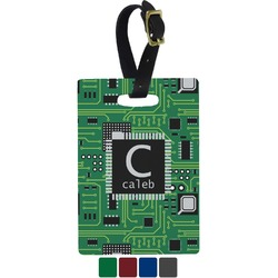 Circuit Board Rectangular Luggage Tag (Personalized)