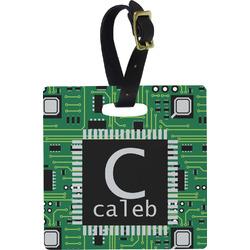 Circuit Board Square Luggage Tag (Personalized)