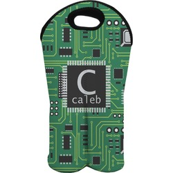 Circuit Board Wine Tote Bag (2 Bottles) (Personalized)