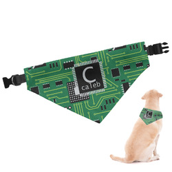 Circuit Board Dog Bandana - Small (Personalized)