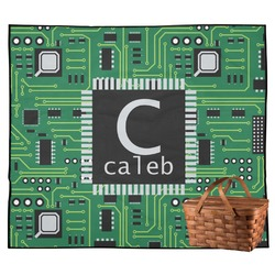 Circuit Board Outdoor Picnic Blanket (Personalized)
