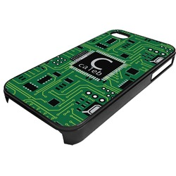 Circuit Board Plastic 4/4S iPhone Case (Personalized)