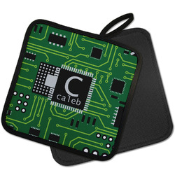 Circuit Board Pot Holder w/ Name and Initial