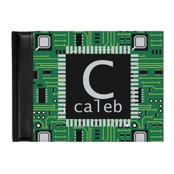Circuit Board Genuine Leather Guest Book (Personalized)