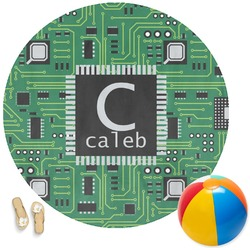 Circuit Board Round Beach Towel (Personalized)