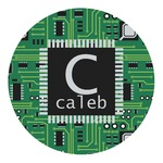 Circuit Board Round Decal (Personalized)