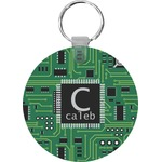 Circuit Board Round Keychain (Personalized)
