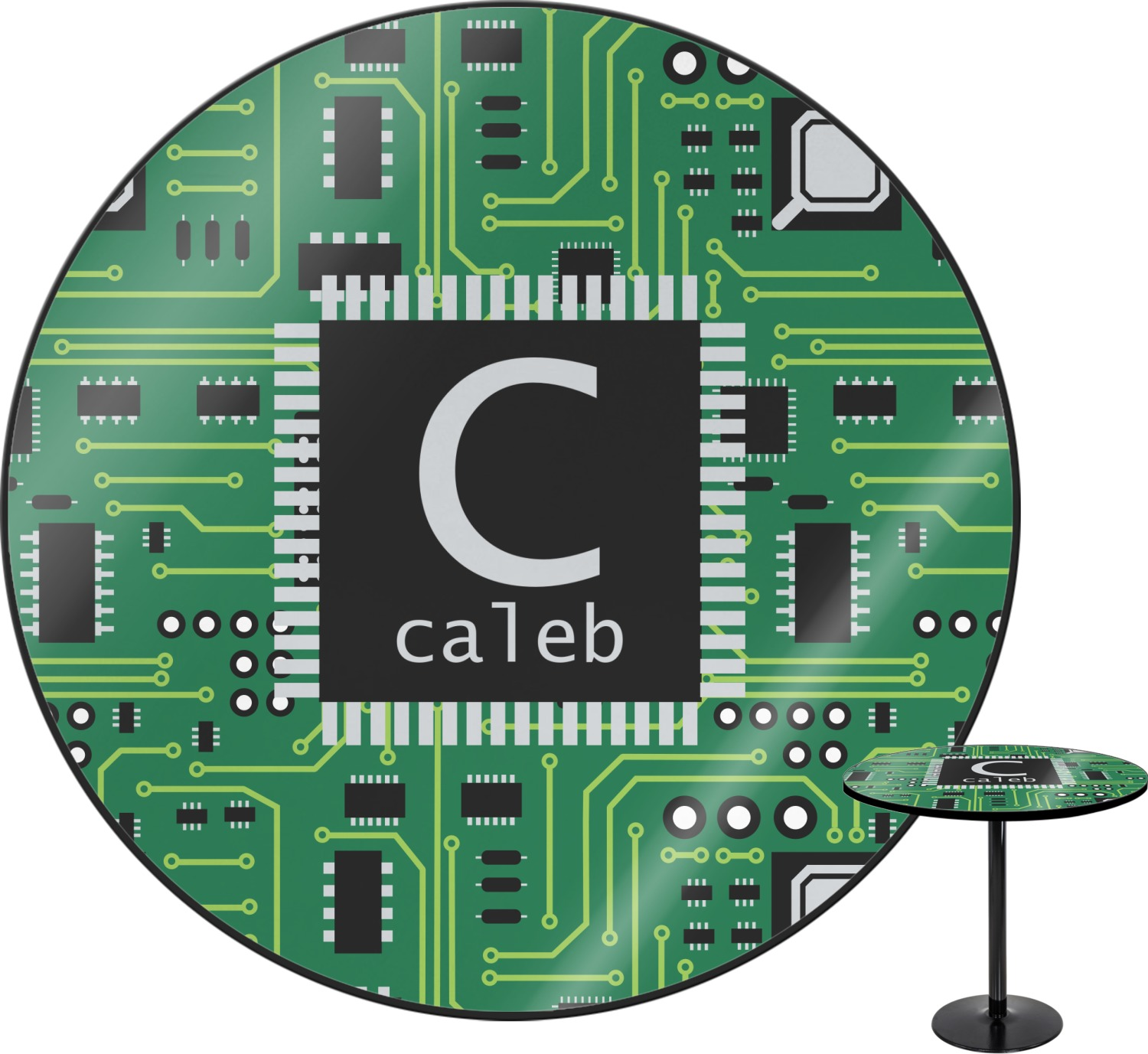 Circuit board round table top 30 personalized you - Table circuit ...