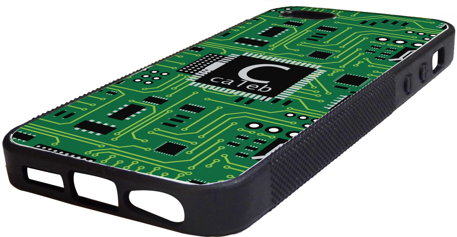 info for a1ae4 96fcb Circuit Board Rubber iPhone 5/5S Phone Case (Personalized)