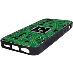 Circuit Board Rubber iPhone 5/5S Phone Case (Personalized)
