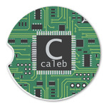 Circuit Board Sandstone Car Coasters (Personalized)