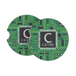 Circuit Board Sandstone Car Coasters (Personalized)