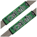 Circuit Board Seat Belt Covers (Set of 2) (Personalized)
