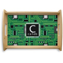 Circuit Board Natural Wooden Tray (Personalized)