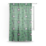 Circuit Board Sheer Curtains (Personalized)