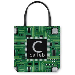 Circuit Board Canvas Tote Bag (Personalized)