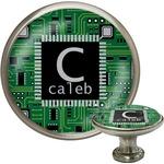 Circuit Board Cabinet Knob (Silver) (Personalized)