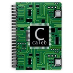 Circuit Board Spiral Notebook (Personalized)