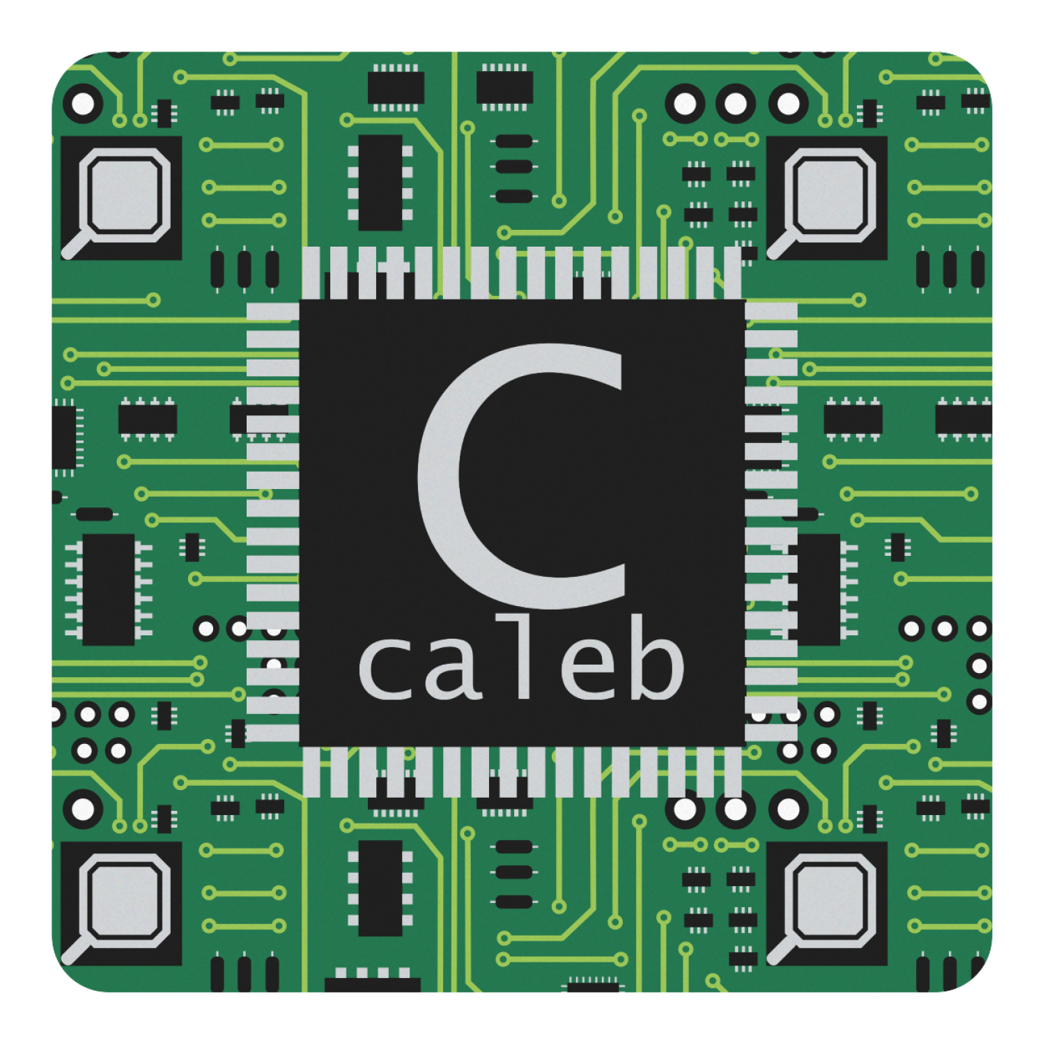 Circuit Board Square Decal Custom Size Personalized Youcustomizeit Boards