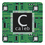 Circuit Board Square Decal (Personalized)