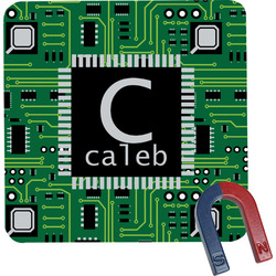 Circuit Board Square Fridge Magnet (Personalized)