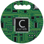 Circuit Board Stadium Cushion (Round) (Personalized)