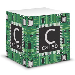 Circuit Board Sticky Note Cube (Personalized)