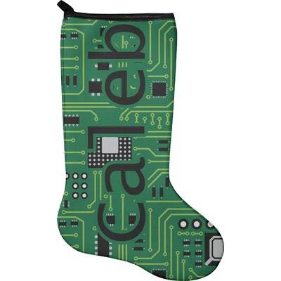 Circuit Board Holiday Stocking - Neoprene (Personalized)