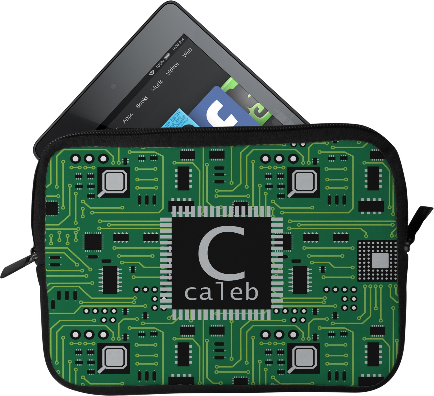 Circuit Board Tablet Case Sleeve Personalized Youcustomizeit Circuitboardnotebook