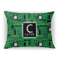Circuit Board Rectangular Throw Pillow Case (Personalized)