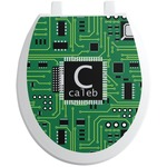 Circuit Board Toilet Seat Decal (Personalized)