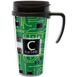 Circuit Board Travel Mug with Handle (Personalized)
