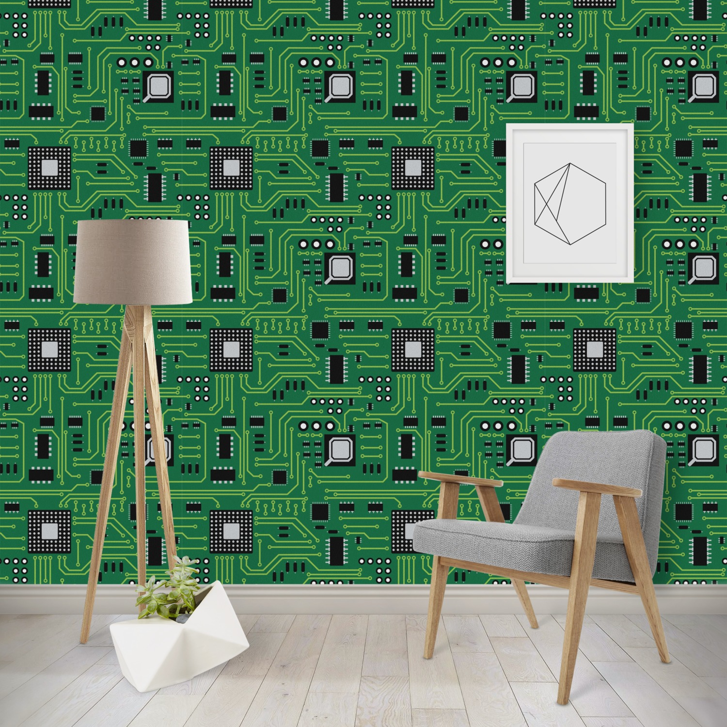 Circuit Board Wallpaper Amp Surface Covering Youcustomizeit