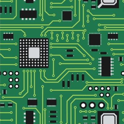 Circuit Board Wallpaper & Surface Covering