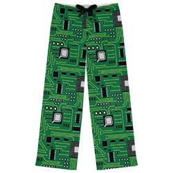 Circuit Board Womens Pajama Pants (Personalized)