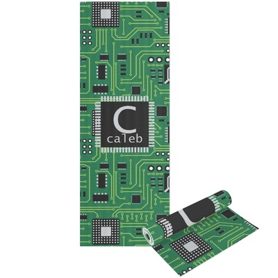 Circuit Board Yoga Mat - Printable Front and Back (Personalized)