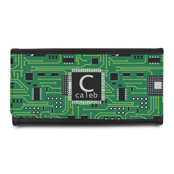 Circuit Board Leatherette Ladies Wallet (Personalized)