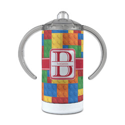 Building Blocks 12 oz Stainless Steel Sippy Cup (Personalized)
