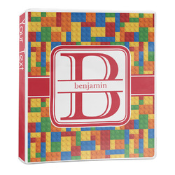 Building Blocks 3-Ring Binder - 1 inch (Personalized)